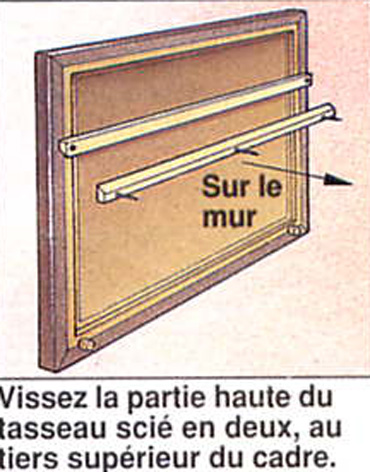 Systeme accroche tableau photos de conception de maison for Accrocher miroir au mur